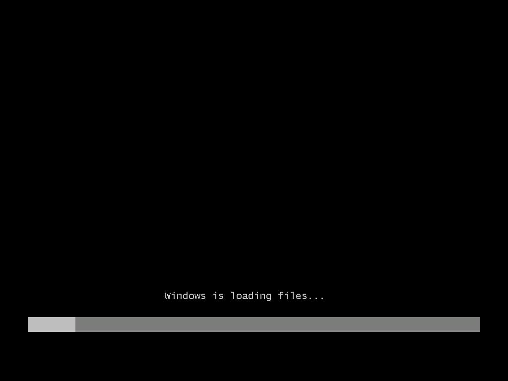 computer loading black screen