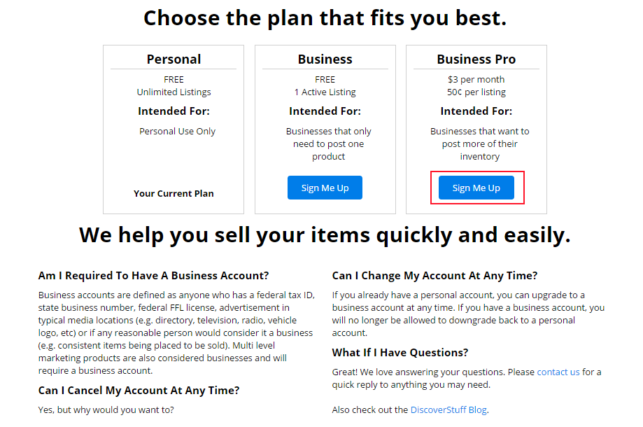 Upgrading to a Nex-Tech Classifieds Business Account