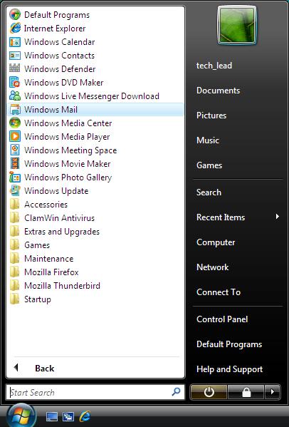 Windows Mail (Vista Only) - E-mail Setup