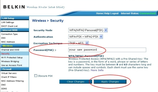 Belkin Wireless Router - Securing Your Wireless