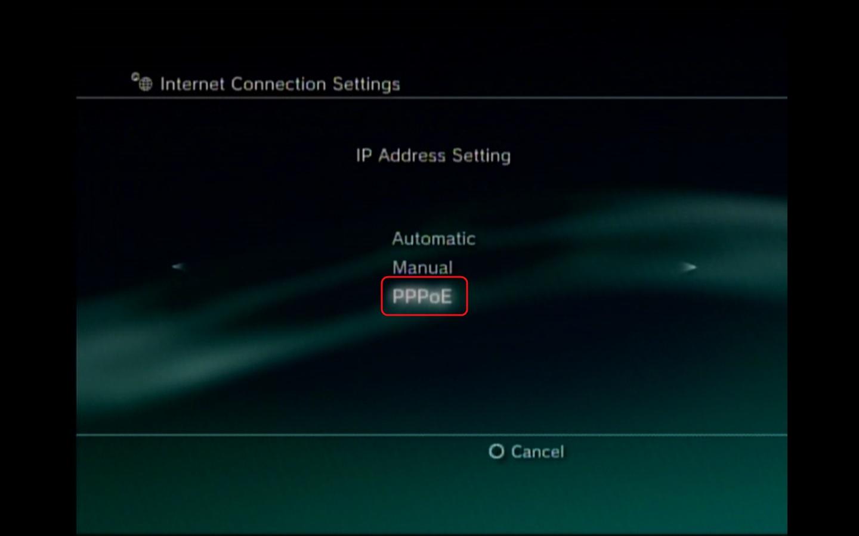 playstation3 configuring a pppoe connection rh kb nex tech com TV Setup PS3 Wires