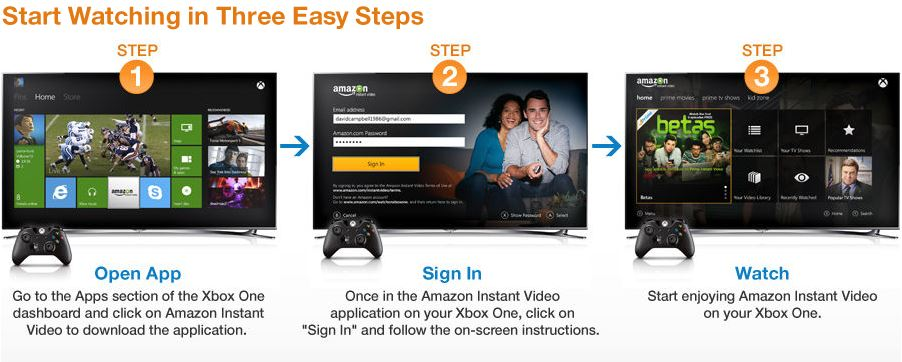 Streaming amazon instant video enter your amazon email address and password on your xbox one and click sign in you are now logged in enjoy sciox Choice Image