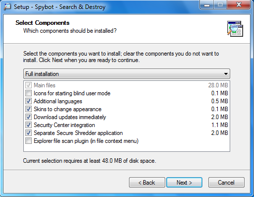 Anti-Virus, Spyware and Malware Recommendations - Installing