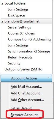 how to delete trash files from mozilla thunderbird
