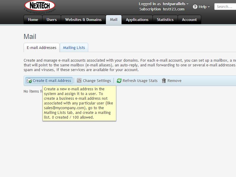 Plesk Email Management and Setup